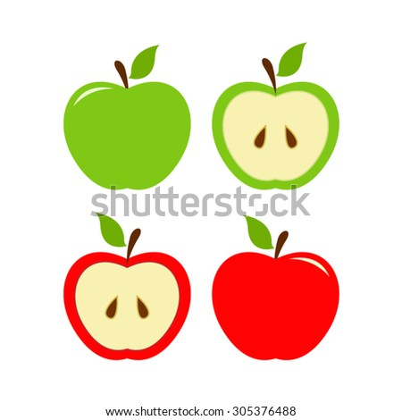 vector file of green and red