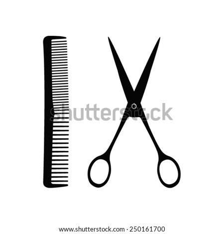 vector file of hairdressing