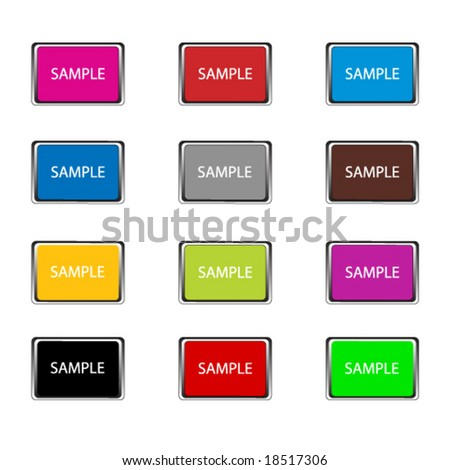 Vector File of Simple Buttons fully customizable #18517306