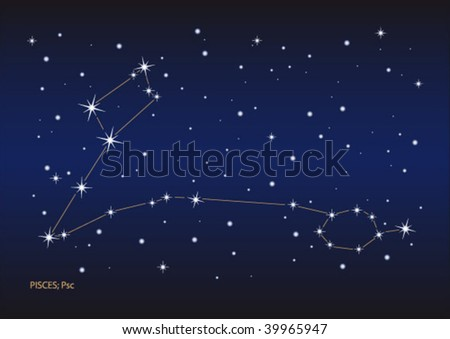 Vector File Of The Pisces Stars Constellation. Size And Color Can ...