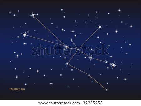 Vector file of the taurus stars constellation. Size and color can be changed.