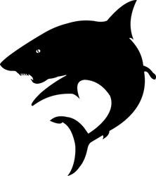 vector file shark silhouette