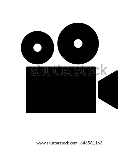 Vector film projector / cinema camera icon.