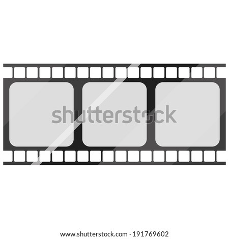 Vector Film Stock Icon Isolated On White Background
