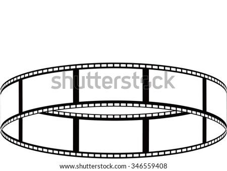 vector film strip multi style