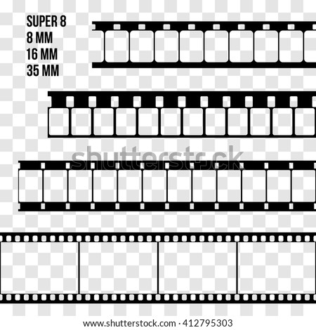 20 film strip template vectors download free vector art for Film strip picture template