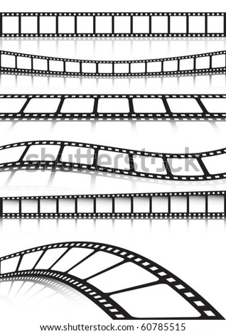 Vector film strip   various background collection