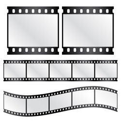 Vector film strips - waveform and straight strip. Insulated windows - you can create variable long straight filmstrip. Eps 10 vector file.