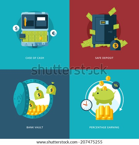 vector finance and money icons...