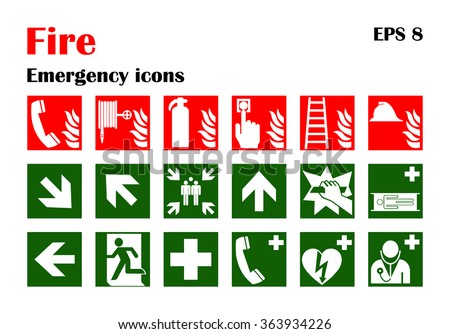 Fire Emergency Icons Download Free Vector Art Stock Graphics Images