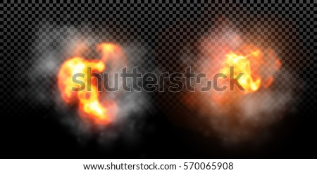 vector fire explosion effect on