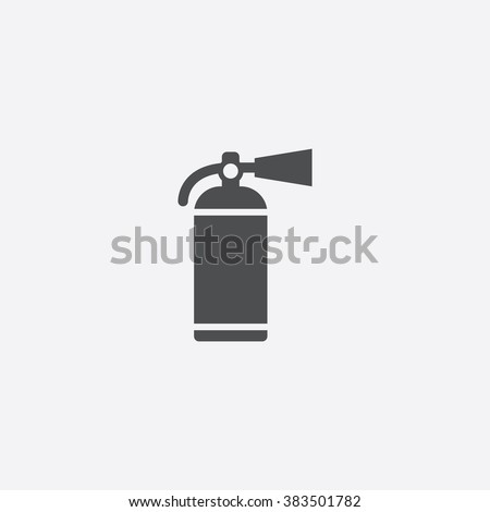 vector fire extinguisher icon
