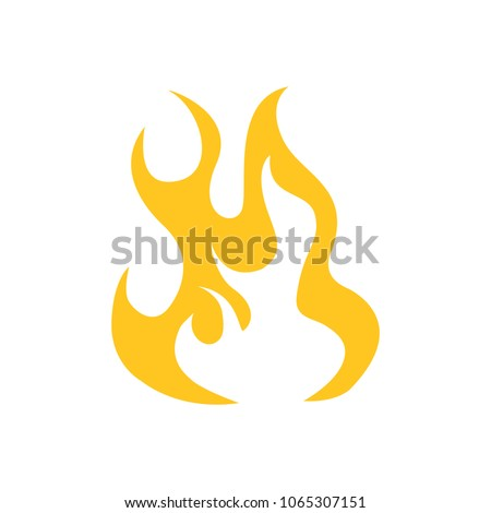 vector fire flame  fire sign