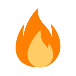 vector fire flames sign illustration isolated - fire icon