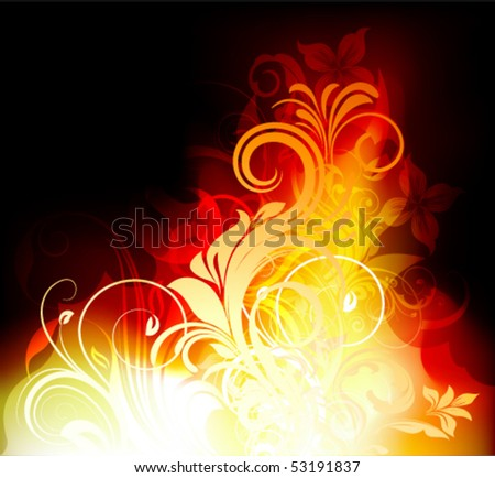vector fire flower