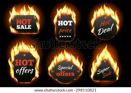 vector fire labels set price