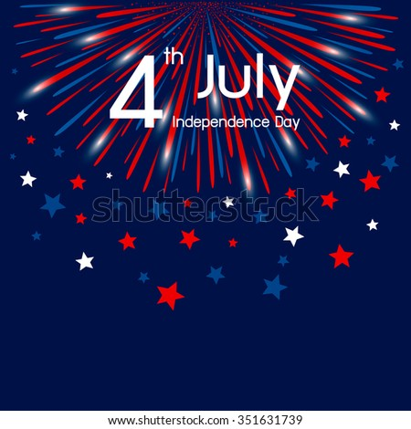Vector firework 4th of july american independence day #351631739