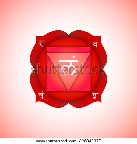 vector first root chakra