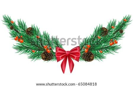 Vector firtree twig