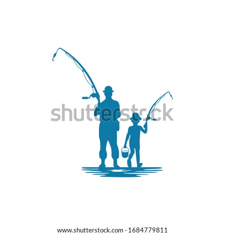 Vector fishing design business logo ストックフォト ©