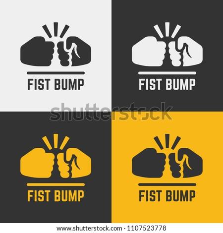 Vector fist bump icon.