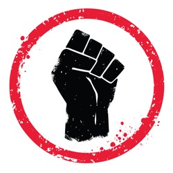Vector fist symbol. Isolaed background.