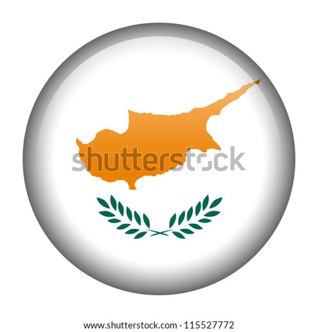 Vector flag button series - Cyprus
