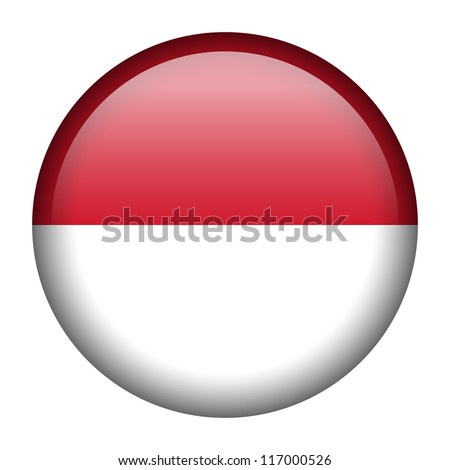 Vector flag button series - Indonesia
