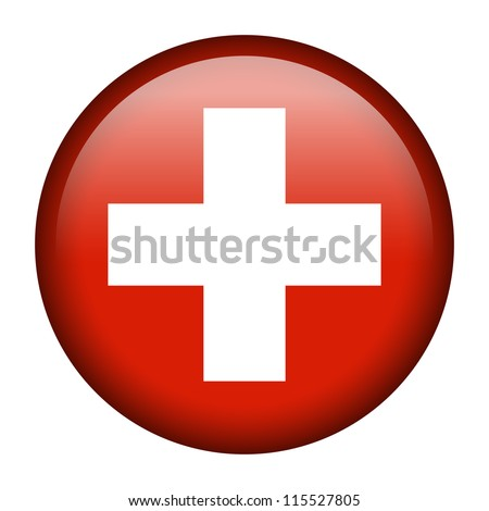 Vector flag button series - Switzerland