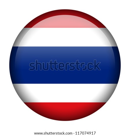 Vector flag button series - Thailand