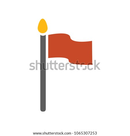 vector Flag illustration - Flag element isolated, vector flag symbol