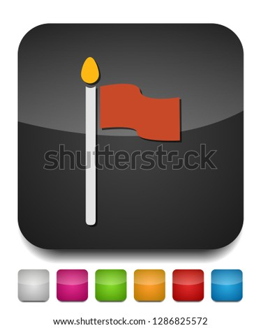 vector Flag illustration - Flag element isolated, vector flag symbol