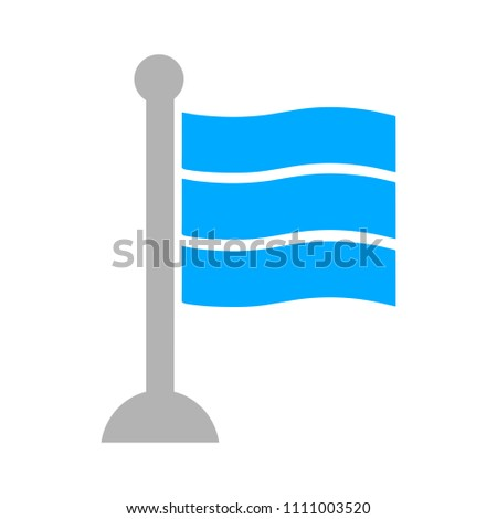 vector flag illustration isolated, map pin marker - location sign symbol