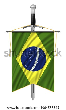 vector flag of brazil with