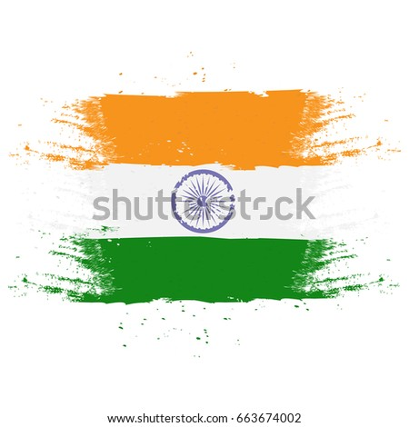 vector flag of india in the