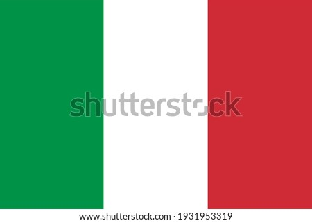 Vector flag of Italy. Accurate dimensions and official colors. Symbol of patriotism and freedom. This file is suitable for digital editing and printing of any size.