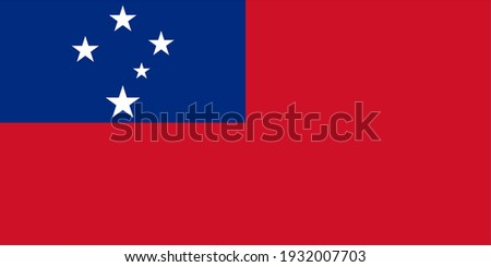 Vector flag of Samoa. Accurate dimensions and official colors. Symbol of patriotism and freedom. This file is suitable for digital editing and printing of any size.