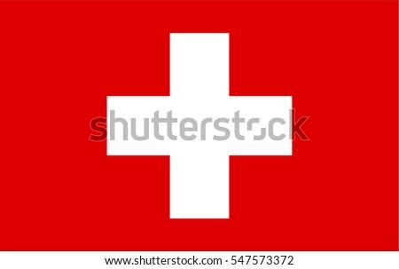 Vector Flag of Switzerland