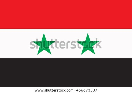 vector flag of syria country