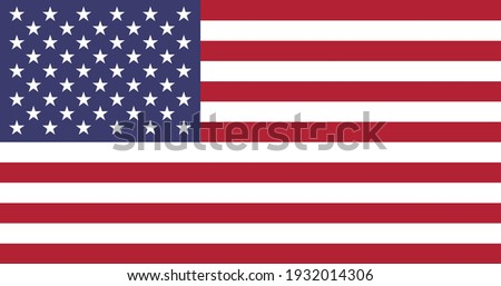 Vector flag of United States of America. Accurate dimensions and official colors. Symbol of patriotism and freedom. This file is suitable for digital editing and printing of any size.