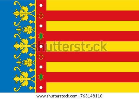 vector flag of valencian