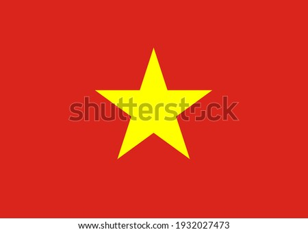 Vector flag of Vietnam. Accurate dimensions and official colors. Symbol of patriotism and freedom. This file is suitable for digital editing and printing of any size. Foto stock ©