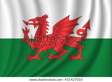 vector flag of wales