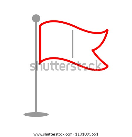 vector flag pointer illustration - location sign, marker pin map symbol