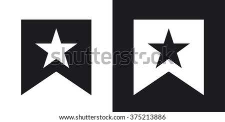 vector flag with star icon two
