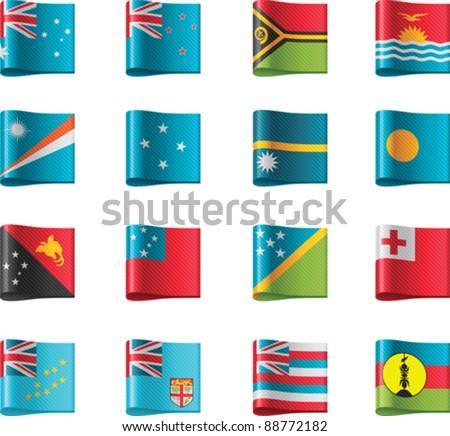 Vector flags. Oceania, part 11