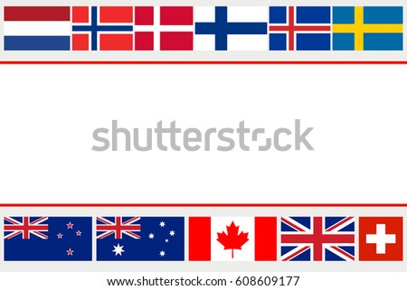vector flags of countries with
