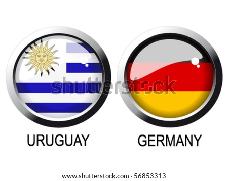 Vector flags - Uruguay, Germany