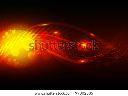 vector flame abstract background