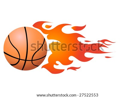 Vector Flaming Basketball